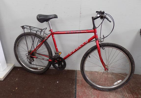 "Apollo Laser red 26"" rigid 10 gears bike"