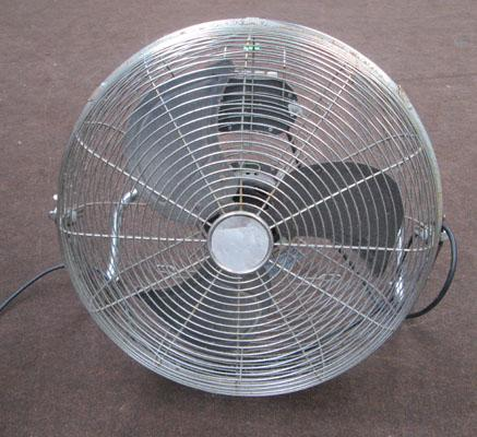 Large industrial electric fan in working order