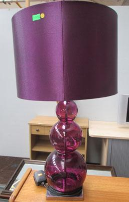 Large purple bauble lamp + shade