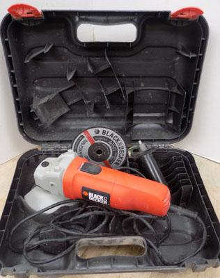 Black and Decker angle grinder in working order