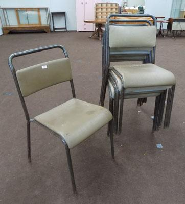 Industrial stacking chairs for restoration x7