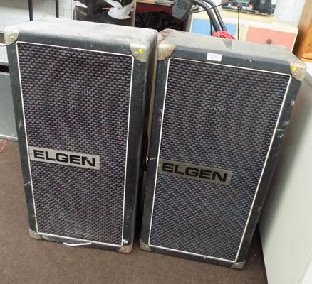 2 x Large Elgin speakers
