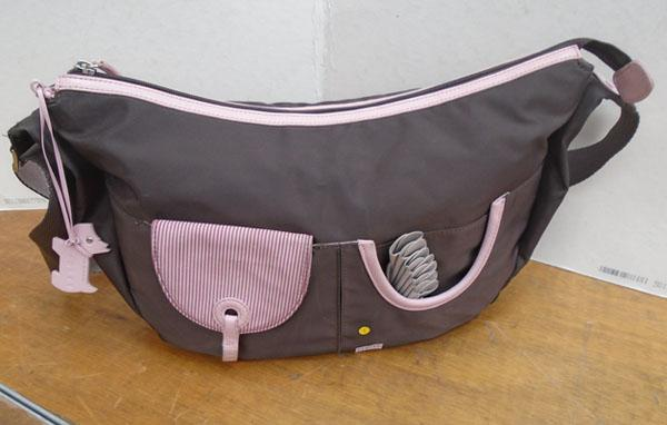 Radley brown & pink shoulder bag