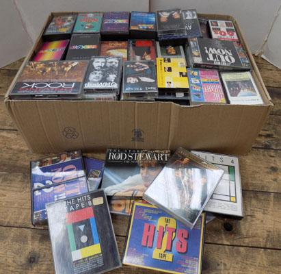 Large box of cassette tapes