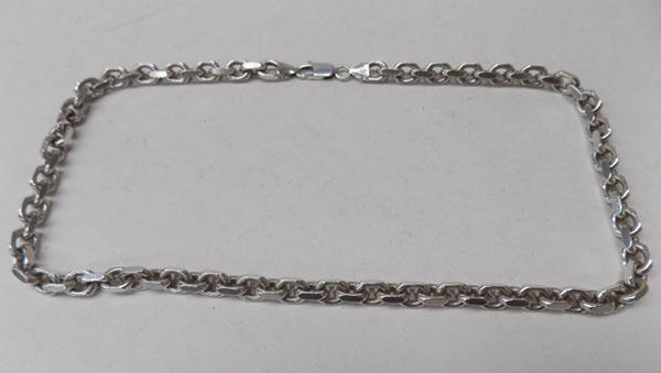 Heavy silver neck chain