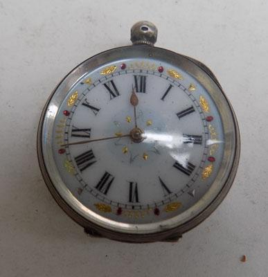 Silver ladies pocket watch