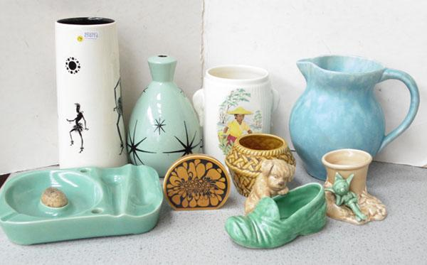 Collection of mid-century vintage ceramics