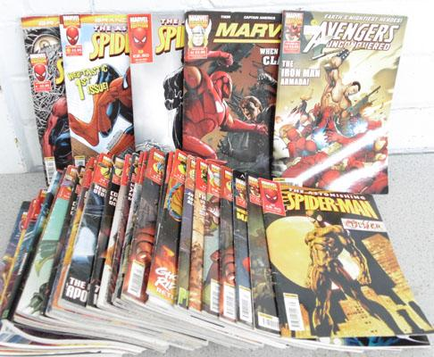 Large collection of Marvel comics