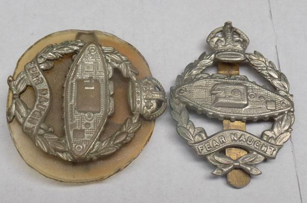 2x Military badges inc Fearnought