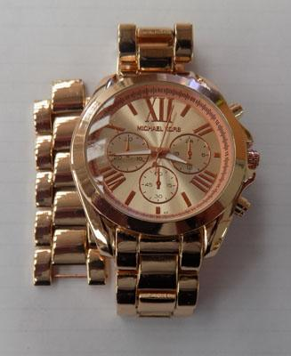 MK fashion rose gold colour watch and spare links