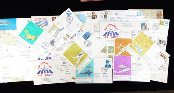 Large quantity of signed first day covers