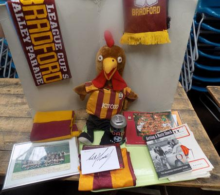 Box of Bradford City collectables