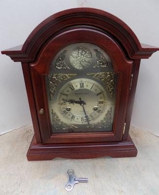 Wood & Son wind mantel piece clock in working order