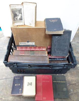 Collection of old Bibles/prayer books/books dating from 1758