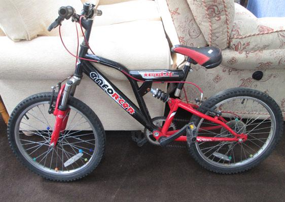 Boys Enforcer mountain bike (red and black)