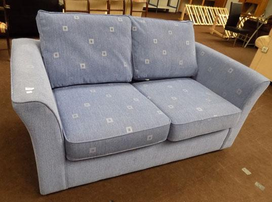 2 seater blue bed settee