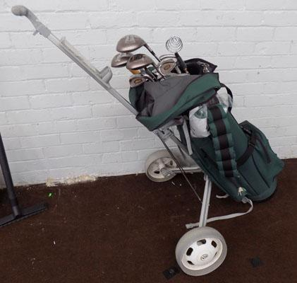 Palmer Premier golf set and trolley and extras