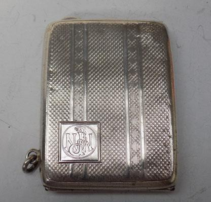 Silver book match holder Chester 1925