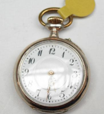 Solid silver ladies pocket watch