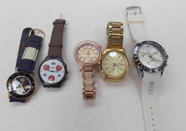 5 various watches
