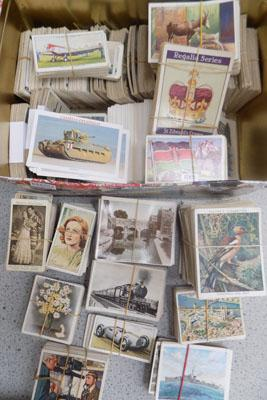 Tin of cigarette cards