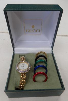 Genuine Gucci watch - interchangable faces - boxed