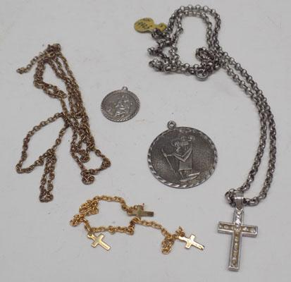 Silver pendant/silver St. Christopher + others