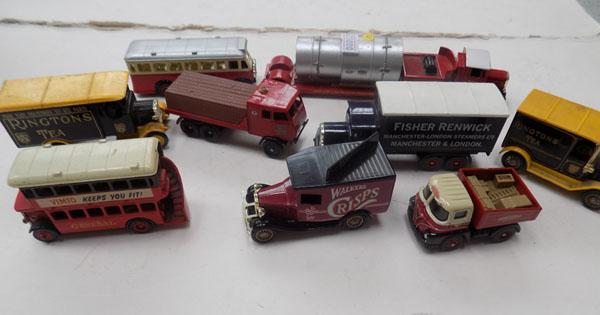 9 collectable diecast vehicles