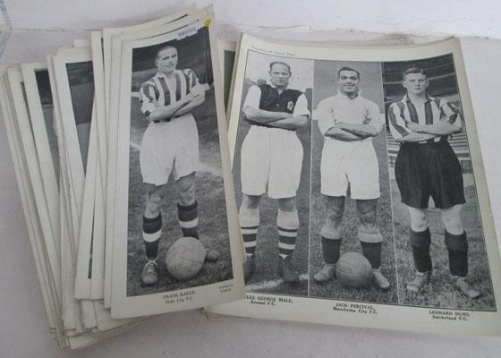 Selection of black & white football photographs