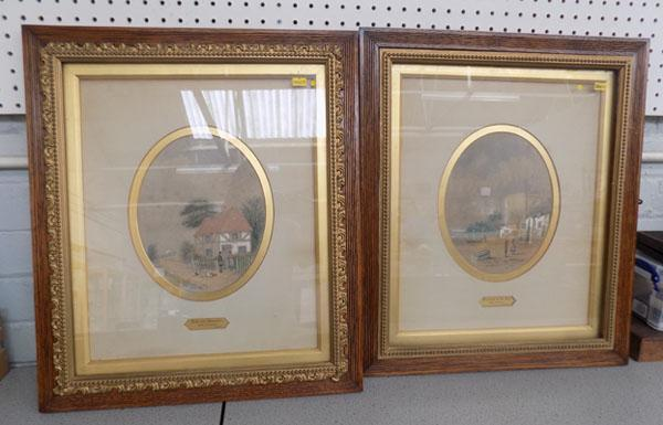 2 antique watercolours R Beatty 1888