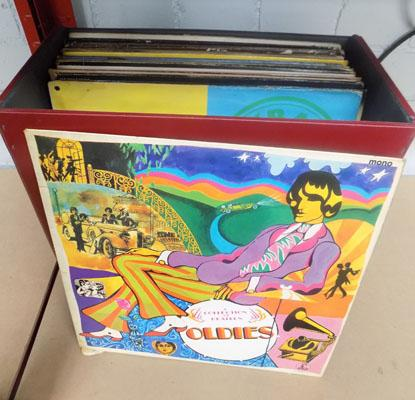 Box of collectable LPs
