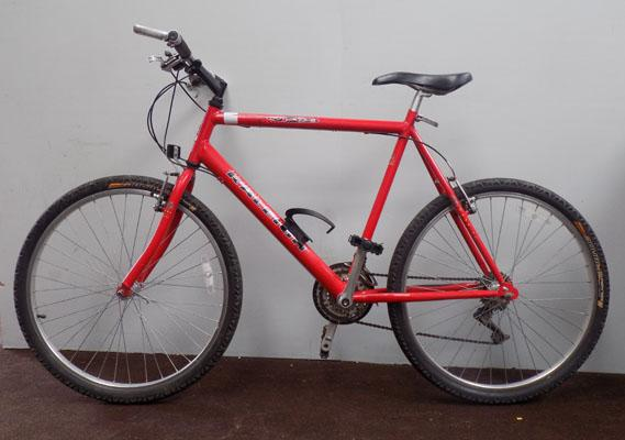 "Raleigh Max red 26"" rigid 21 gears bike"