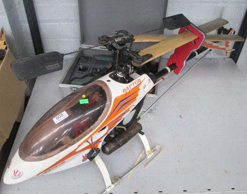 radio controlled helicopter with controller/case