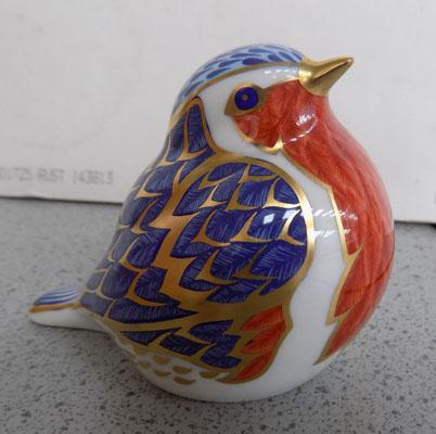 Royal Crown Derby Robin with gold stopper