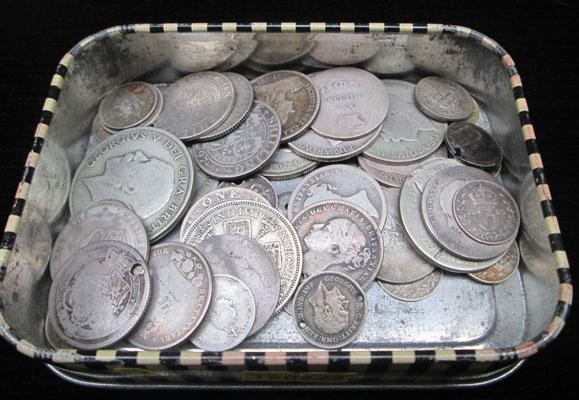 Selection of English silver coins