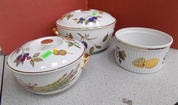 Royal Worcester Evesham serving tureens