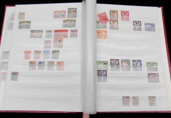 Stock book of George V stamps etc