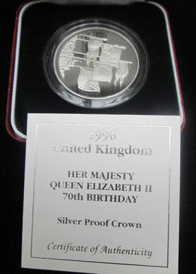 Royal Mint Queen 70th Birthday silver proof coin