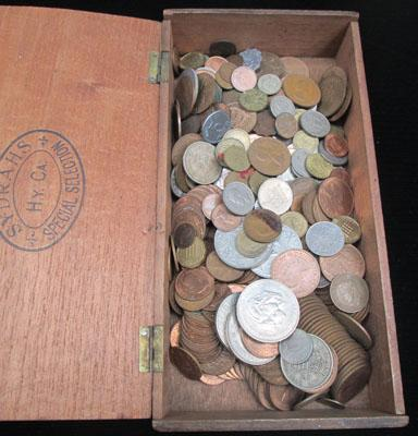 Large selection of mixed coins