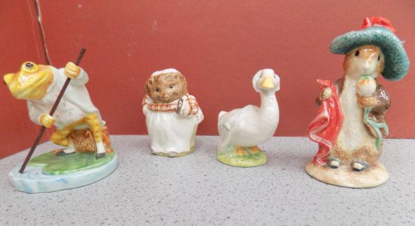 4 Beatrix Potter figures