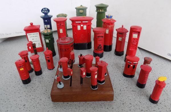 Selection of miniature post boxes