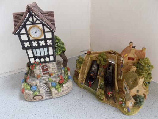 Rare Lilliput Lane Dawn of Steam 2004 & other clock tower