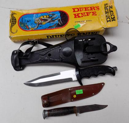 Diver's knife + hunting knife