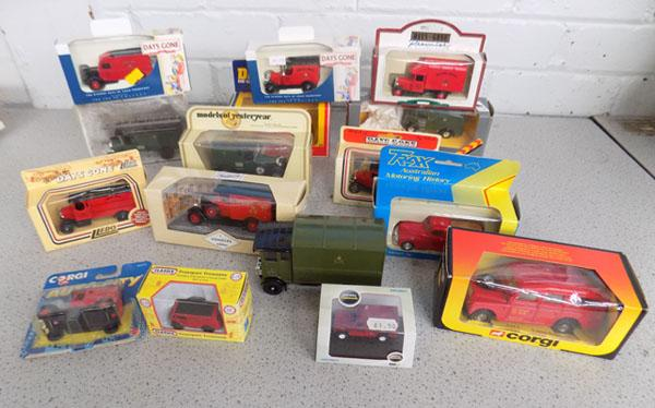 Tray of boxed post office vans