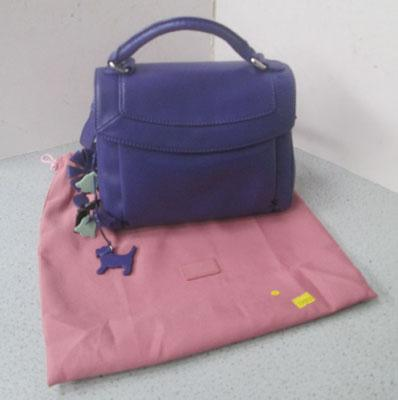 Radley purple handbag + dust bag