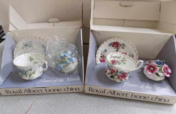 Royal Albert boxed collection flowers of the month July/August