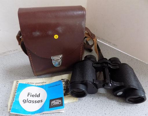 Pair Carl Zeiss Zena binoculars & certificates