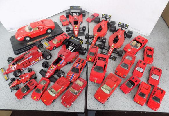 Box of Corgi etc. racing car models - Ferrari