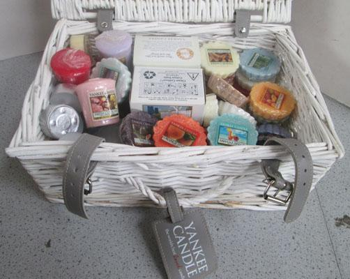 Basket of Yankee candles