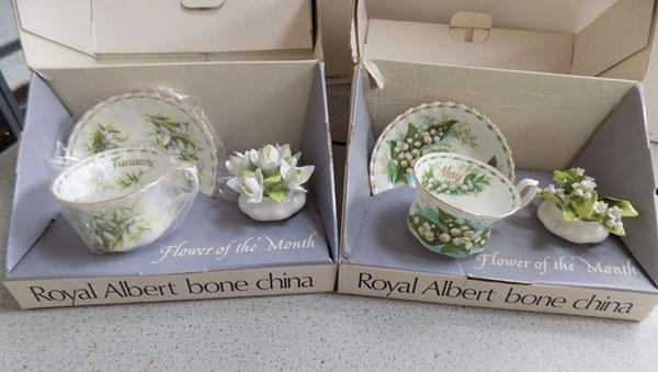 Royal Albert collection flowers of the month January/May